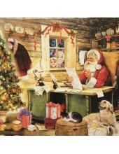 "Салфетка для декупажа IHR-102368 ""Санта и письма"",  33х33 см, Германия"