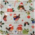 """Салфетка для декупажа IHR-102371 """"Рождественские птички и подарки"""",  33х33 см, Германия"""