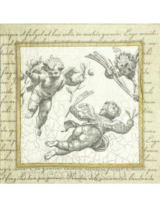 "Салфетка для декупажа IHR-102651 ""Винтажные ангелы"", 33х33 см, Германия"