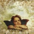 "Салфетка для декупажа IHR-102652 ""Ангелы среди цветов"", 33х33 см, Германия"