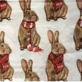 """Салфетка для декупажа IHR-092617 """"Рождественский кролик"""", 33х33 см, Германия"""