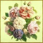 """Салфетка для декупажа IHR-201070 """"Большой букет роз"""", 33х33 см, Германия"""
