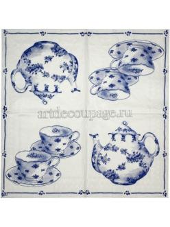Салфетка для декупажа Чай для двоих, 33х33 см, Германия