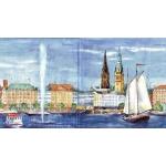 "Салфетка для декупажа IHR-310442 ""Гамбург"", 33х33 см, Германия"