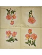 "Салфетка для декупажа IHR-310616 ""Букет роз"", 33х33 см, Германия"