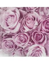 "Салфетка для декупажа IHR-310800 ""Розовые розы"", 33х33 см, Германия"