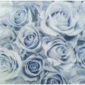 "Салфетка для декупажа IHR-310801 ""Голубые розы"", 33х33 см, Германия"