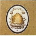 "Салфетка для декупажа IHR-310838 ""Мед и пчелы"", 33х33 см, Германия"