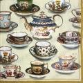 "Салфетка для декупажа IHR-310800 ""Чашки, чайники"", 33х33 см, Германия"
