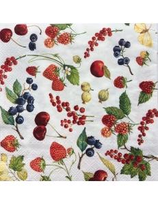 """Салфетка для декупажа IHR-310904 """"Садовые ягоды"""", 33х33 см, Германия"""