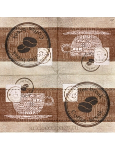 "Салфетка для декупажа IHR-310945 ""Кофе"", 33х33 см, Германия"