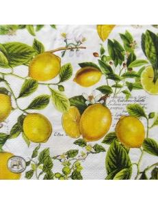 "Салфетка для декупажа IHR-310970 ""Лимоны"", 33х33 см, Германия"