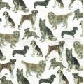 """Салфетка для декупажа IHR-310632 """"Собаки разных пород"""",  33х33 см, Германия"""