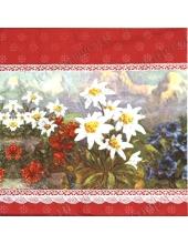 "Салфетка для декупажа IHR-414410 ""Альпийские цветы"",  33х33 см, Германия"