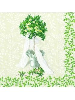 "Салфетка для декупажа, IHR-429060, ""Деревце в горшке"", 33х33 см, Германия"