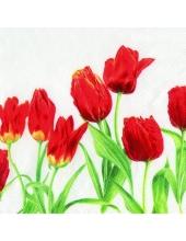 "Салфетка для декупажа, IHR-470290, ""Тюльпаны"", 33х33 см, Германия"