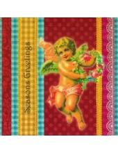 "Салфетка для декупажа, IHR-483200, ""Ангел"", 33х33 см, Германия"