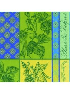 Салфетка для декупажа Прованские травы, орнамент, 33х33 см, Германия