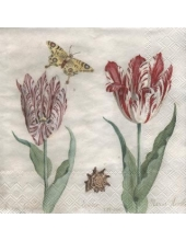 "Салфетка для декупажа, IHR-501360, ""Старинные тюльпаны"", 33х33 см, Германия"