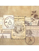 "Салфетка для декупажа IHR-521700 ""Время чая"", 33х33 см, Германия"