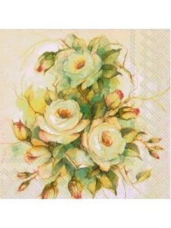 Салфетка для декупажа IHR-525100 Запах роз, 33х33 см, Германия