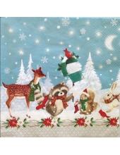 "Салфетка для декупажа, IHR-531100, ""Рождество в лесу"", 33х33 см, Германия"