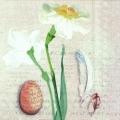 "Салфетка для декупажа, IHR-540400, ""Нарциссы, Пасха"",  33х33 см, Германия"