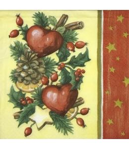 """Салфетка для декупажа """"Рождественские украшения"""",  33х33 см, Германия"""