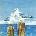 "Салфетка для декупажа ""Чайки"", 33х33 см, Германия"