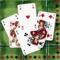 """Салфетка для декупажа, IHR-87820, """"Игральные карты, зеленый фон"""", 33х33 см, Германия"""