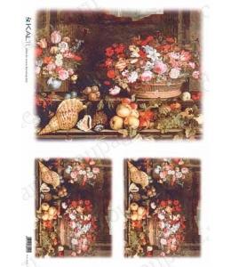 "Рисовая бумага Love2Art 0031, ""Натюрморт с ракушками"", 32х45см, Kalit (Италия)"