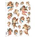 "Рисовая бумага Love2Art 0128, ""Ангелы с цветами"", 32х45см, Kalit (Италия)"