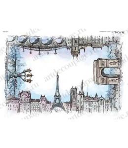 """Рисовая бумага Love2Art 0029, """"Парижская улица"""", 32х45см, Kalit (Италия)"""