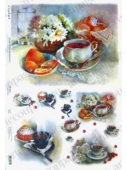 Рисовая бумага Love2Art Завтрак, чаепитие, 32х45см, Kalit (Италия)