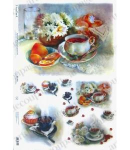 "Рисовая бумага Love2Art 0051, ""Завтрак, чаепитие"", 32х45см, Kalit (Италия)"
