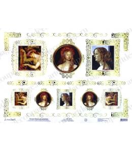 """Рисовая бумага Love2Art 0075, """"Женский портрет"""", 32х45см, Kalit (Италия)"""