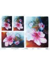 "Рисовая бумага Love2Art 0084, ""Тропический цветок"", 32х45см, Kalit (Италия)"