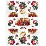 "Рисовая бумага Love2Art 0085, ""Розы в карзине"", 32х45см, Kalit (Италия)"