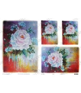 "Рисовая бумага Love2Art 0096, ""Сказочная роза"", 32х45см, Kalit (Италия)"