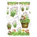 """Рисовая бумага Love2Art 0113, """"Весенние цветы"""", 32х45см, Kalit (Италия)"""