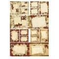 "Рисовая бумага Love2Art 0152, ""Открытки с розами"", 32х45см, Kalit (Италия)"
