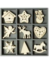 """Набор декоративных элементов из дерева """"Символы Рождества"""", 45 шт, 22 мм, Knorr prandell"""