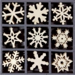 """Набор декоративных элементов из дерева """"Снежинки 1"""", 45 шт, 22 мм, Knorr prandell"""