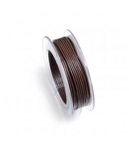 Шнур кожаный 1 мм, на ролике, цвет коричневый шоколадный, 5 м, Knorr prandell (Германия)