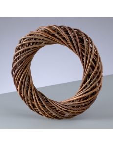Заготовка венок декоративный плетеный, неочищенные ивовые прутья, 10 см, EFCO (Германия)