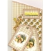 Люверсы круглые металлические, цвет желтый, 5х3 мм, 100 шт., Knorr prandell (Германия)