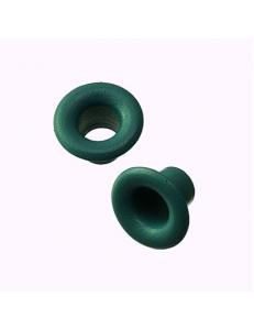 Люверсы круглые металлические, цвет изумрудный зеленый, 5х3 мм, 100 шт., Knorr prandell (Германия)*
