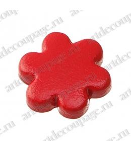 "Кнопки для скрапбукинга ""Цветок"" красный, 8 мм, 25 шт., Knorr prandell (Германия)"