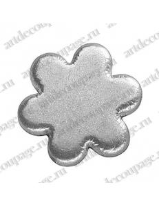 "Кнопки для скрапбукинга ""Цветок"", старое серебро, 8 мм, 25 шт., Knorr prandell (Германия)"