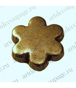 "Кнопки для скрапбукинга ""Цветок"", старое золото, 8 мм, 25 шт., Knorr prandell (Германия)"